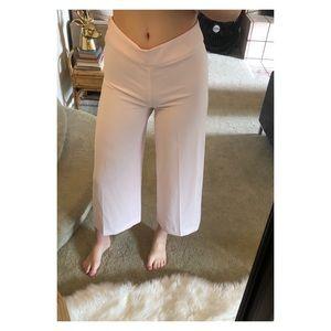 H&M cropped wide leg pants